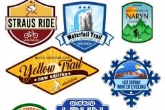Логотипы для клуба велосипедных приключений